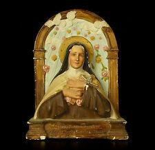 Sainte Thérèse de Lisieux Bas-relief en plâtre Santa Théresa H : 23,5 cm plaster