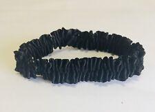 Black Leg Garter Bands, 7/8 inch wide, Satin Stretch, Bulk bag of 100