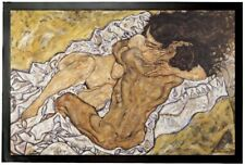 Egon Schiele - Umarmung Die Liebenden Erotik Fußmatte Türmatte (60x40cm) #94013