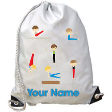 Boy'S Gymnastics Personalised Gym / Pe / Swimming Bag - Boy'S Gift & Named Too