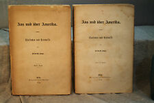 Aus und Uber Amerika America German immigration 1876 rare antique old book
