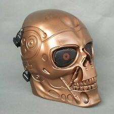 Full Face Protection Paintball CS T800 Skull Mask Props Red Copper Color