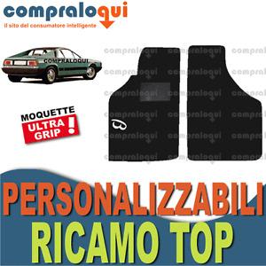 TAPPETINI per LANCIA BETA MONTECARLO in MOQUETTE fondo GOMMA + LOGO TOP RICAMATO