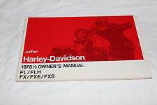 Harley Davidson 1978 1/2 Shovelhead FL/FH Owners Manual NOS 99460-78E NOS (38)
