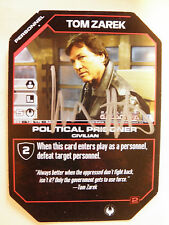 Autographed  Tom Zarek, Political Prisoner  (Richard Hatch)