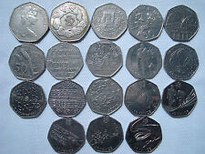 50p pence New Pence, Commemorative, Regional, Olympic Great Britain Coins