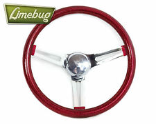 "Mooneyes 13,5 ""California FIOCCO ROSSO VOLANTE SLOT VW BEETLE BUGGY T1"