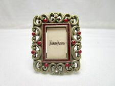 Jay Strongwater Mini Frame Neiman Marcus Clip Or Stand Gold Tone Red Clear
