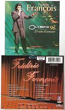 FREDERIC FRANCOIS olympia 96 - 25 ans d'amour CD ALBUM