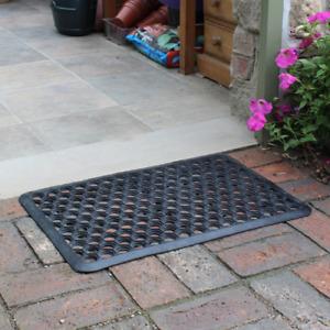 JVL Heavy Duty Entrance Doormat Large Door Mat Honeycomb Outdoor Mat 40x60cm