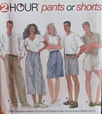 Simplicity 7030 Unisex Mens Womens L-XL Pants & Shorts 2 Hour Very Loose Pattern