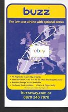 BUZZ AIR HOLLAND LOW COST AIRLINE WITH EXTRA'S LONDON HUB 2001 AD