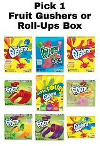 Fruit Gushers or Fruit Roll-Ups Pick 1 Box: Jolly Rancher, Starburst & More