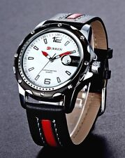 Men`s 30m Waterproof Genuine Leather Calendar Stylish Classic Quartz Watches