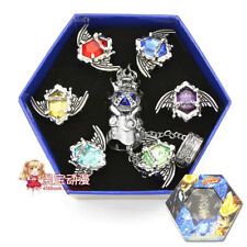 Anime Katekyo Hitman Reborn Vongola Metal Rings Cosplay Necklace Gift 7pcs/box