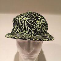 Marijuana pot leaf Baseball Cap hat adjustable SnapBack. Fast Free Ship dark wow