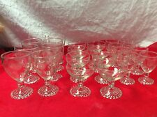 Anchor Hocking BUBBLE FOOT Crystal Goblets (Set of 24) Modern Rose - AHC11