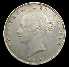 More details for victoria 1844 young head silver halfcrown - gvf