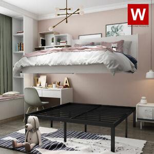 """Queen Steel Bed Frame Metal Platform Beds with Heavy Duty Steel 14"""" Storage"""
