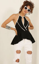 Peplum Hand-wash Only Casual Solid Tops for Women