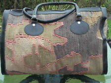 Kilim Holdall /Tote Vintage Luggage Travel Carpet Bag Moroccan/ Turkish Tapestry