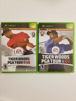 2 Game Lot Tiger Woods PGA Tour 06 + 07 Microsoft Original Xbox Complete Tested