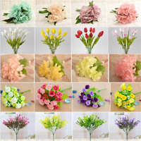 New Artificial Fake Peony Rose Flower Bridal Hydrangea Home Wedding Garden Decor