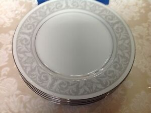 "4 - Imperial China Dinnerware ""WHITNEY"" #5671 10 1/4"" Dinner Plates W Dalton"