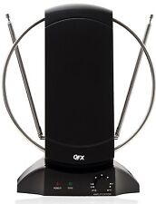 QFX HD DTV VHF UHF FM HDTV 1080p TV TELEVISION ROTATING INDOOR ANTENNA ANTENA