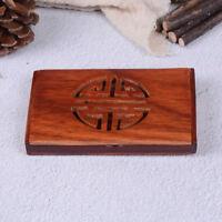 Wooden Name Card Business Card Holder Handmade Box Storage id credit caseBHCA