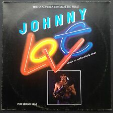 Rare + signed Brazilian import! Sergio Dias JOHNNY LOVE rock soundtrack LP 1988