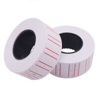 500 Labels White Self-Adhesive Price Labels Stickers/ Tags Retail Supplies Roll