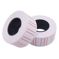 1 Roll(500 Labels) Price Label Paper Tag Sticker White &Red Line Office Supplies