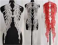 1 PC  Flower Bridal Lace Applique Beaded Tulle DIY Wedding Dress 3D Embroidery