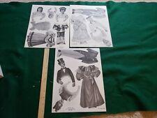 Reproduction Paper Dolls 1895 Loraine Burdick George & Martha & Man Woman Child