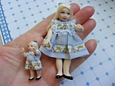 YOUNG GIRL WITH HER DOLLY  - PATSY THOMAS - PORCELAIN  -   HANDCRAFTED