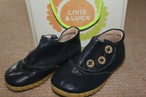 Livie and Luca blue leather boots. Size 11