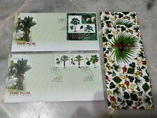 Malaysia 2009 Palm Trees Pokok Palma MS & stamp FDC pair of 2 KL chop