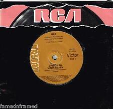 """WAX - BRIDGE TO YOUR HEART  - 7"""" 45 VINYL RECORD w PICT SLV - 1987"""