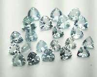 Wholesale Lot 3mm - 10mm Trillion Faceted Cut- Natural Aquamarine Loose Gemstone