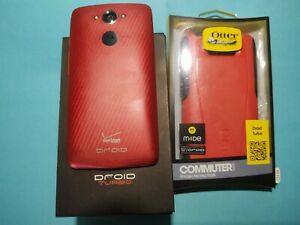 Motorola Droid Turbo XT1254 32GB Verizon 4G Metallic Red with Box & Otterbox