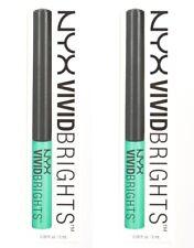 2 x NYX 2mL VIVID BRIGHTS COLOURED LIQUID EYELINER VBL07 VIVID ENVY Brand New