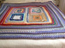 "Throw/blanket Hand Crocheted 60"" X 58"""