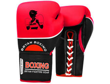 Bryan Professional Lace Up Boxing Gloves Geniune Leather MMA