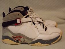 Nike Jordan 8.0 Basketball Shoes 467807-105 White/VarsityRed-NeutralGrey sz 10.5