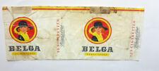 OLD VINTAGE BELGIUM CIGARETTE - TOBACCO PACKET LABEL. BELGA 25s