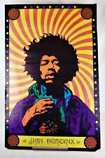 Vintage 1968 Jimi Hendrix Psychedelic Blacklight Poster 22 x 34