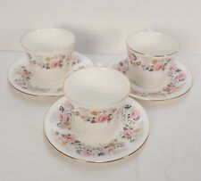 ROYAL KENT 3 Bone China Coffee Tea Cup & Saucer Made In Staffordshire England