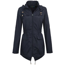 LADIES GIRLS RAIN MAC WOMENS RAINCOAT FISHTAIL KAGOOL PARKA FESTIVAL JACKET COAT