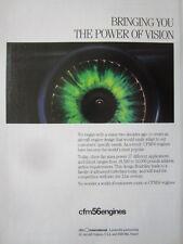 1992 PUB CFM INTERNATIONAL SNECMA GENERAL ELECTRIC CFM56 ENGINE ORIGINAL AD